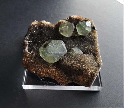 Fluorita-cuarzo-China